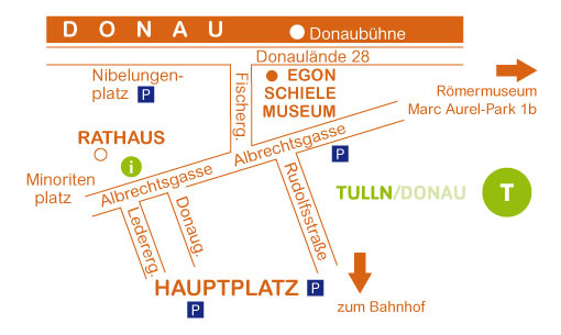 Plan Tulln mit Schielemuseum